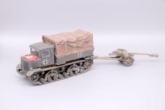 Captured Soviet Tractor towing PaK40 AA Gun